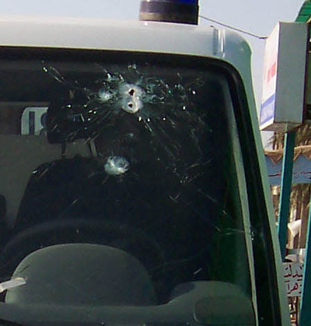 Ambulance shot by snipers in Fallujah